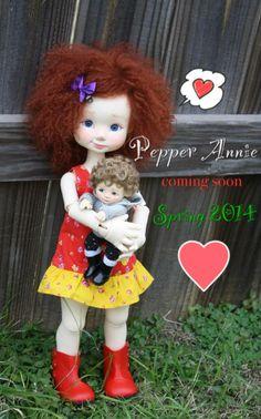 Nikki Britt Studios first MSD size BJD, Pepper Annie!  Pre-ordering in Spring 2014.