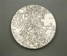 Map of Wellington on a plate Decorative Plates, Pottery, Crown, Personalized Items, My Favorite Things, Doodles, Map, Collection, Ceramica