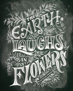 The Earth Laughs in Flowers on Behance by Shauna Lynn Panczyszyn