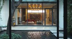 Philip Johnson designed just one private residence in New York City: the Rockefeller Guest House.