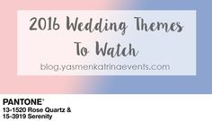 Wedding Themes To Consider For 2016 - Orlando Wedding Planner - Yasmen Katrina Events