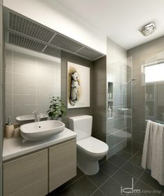 tile colour, basin and cupboard choice, and art love