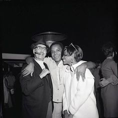 Groucho, Berry Gordy, Diana Ross at a 1966 party given by Bobby Darin.