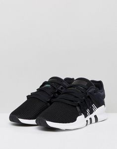 5feda696b317 adidas Originals EQT Racing Adv Sneakers In Black And White - Black Online  Shopping Clothes