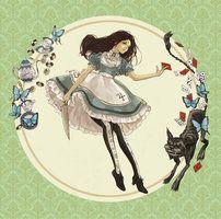 Alice By mochikko Alice Liddell, Alicia Wonderland, Dark Alice In Wonderland, Alice Madness Returns, Creepy Games, Chesire Cat, Estilo Rock, Deviantart, Game Art