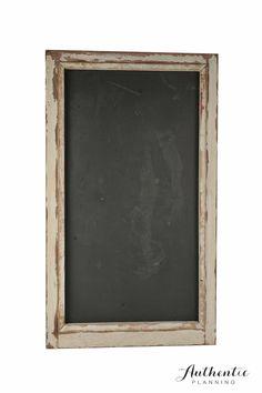 Rustic framed black board