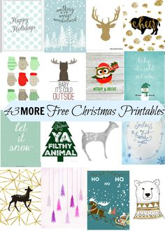43-more-free-christmas-printables Christmas Quotes, Christmas Projects, Christmas Time, Free Christmas Card, Free Christmas Printables, Diy Christmas Wall Decor, Christmas 2017, Christmas Decorations, Free Printables