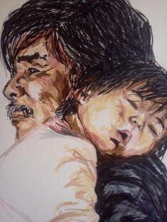 Little darlings-Maria Cruz, quick sketch observation figures portrait child illustration ink