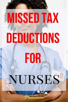 It's understandable that the last thing a nurse, physician, pharmacist, or any other healthcare professional wants to worry about are tax deductions. Business Tax Deductions, Tax Refund, Money Tips, Money Saving Tips, File Income Tax, Bookkeeping Software, Life Pro Tips, Tax Payment, Us Tax
