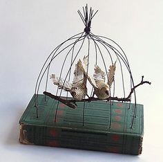 Altered book cloche