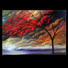 art original painting abstract mid century modern by mattsart, $350.00
