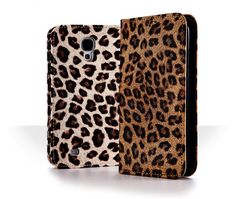 Antique Leopard Pattern Fashion Flip Case for Galaxy Core Advance