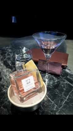 Signature cocktail at Tak Stockholm - serving inspired by Chanel No. 5
