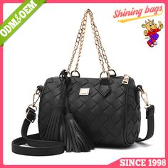 46688e691f8b 2017 Latest Fashion Top Design Manufacturer China Good Quality Classic  Tassel Woven Private Label Sequence Bulk Buy Handbags