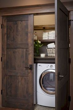 Laundry Room Solutions Storage Shelves Ideas Laundry room decor Small laundry room organization Laundry closet ideas Laundry room storage Stackable washer dryer laundry room Small laundry room makeover A Budget Sink Load Clothes Laundry Room Storage, Laundry Room Design, Laundry In Bathroom, Ikea Laundry, Hidden Laundry, Laundry In Kitchen, Laundry Room Doors, Basement Laundry, Small Laundry Closet