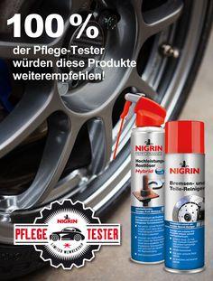 Wir sind stolz! Auf http://www.test-offensive.de/nigrin/testergebnisse bewerten Anwender unserer Produkte deren Wirkung und Leistungsfähigkeit. Ungeschönt und ehrlich! Um so mehr freut es uns, dass der Hochleistungs-Rostlöser und der Bremsen- und Teile-Reiniger 100% positive Bewertungen erhalten haben. Danke!