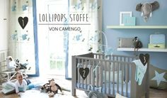 Babyzimmer gestalten mit Camengo Lollipops Stoffen bei Fantasyroom