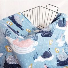 Swan Muslin Swaddle Harry Potter Music Box, Crab Cartoon, Friends Sweatshirt, Muslin Fabric, Purse Organization, Safari Animals, Grab Bags, Goods And Services, Cute Pattern