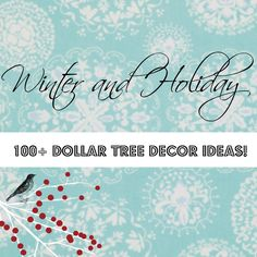 Winter #Dollartree 100 + ideas for you, gift, home decor, tablesettings and more.