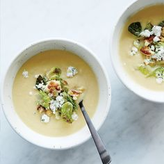 Cauliflower Soup with Herbed Goat Cheese | Food & Wine