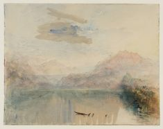 Joseph Mallord William Turner, 'Mount Pilatus, from Lake Lucerne' 1841