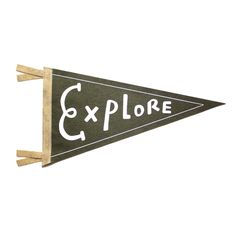 Explore Wool Pennant Flag Wall Hanging Gift for Baby Room Decor Vintage Camping Art for Kids Ro
