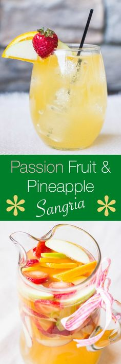 Looking for a fresh signature sip this summer? Passion Fruit and Pineapple Sangria is sweet, sparkly and destined to be your new favorite beverage! #shop