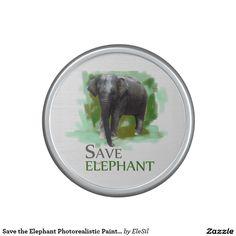 Save the Elephant Photorealistic Painting