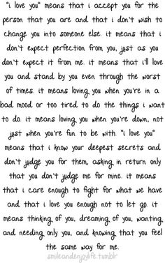 a long paragraph saying how much i love you