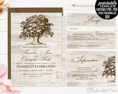 Hey, I found this really awesome Etsy listing at https://www.etsy.com/listing/510171546/old-oak-wedding-invitation-set-template
