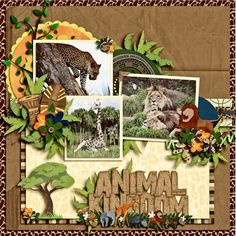 Disney Scrapbook Page Layout Travel Scrapbook Pages, Paper Bag Scrapbook, Vacation Scrapbook, Scrapbook Sketches, Scrapbook Page Layouts, Scrapbook Cards, Scrapbooking Ideas, Disney Animal Kingdom, Disney And More