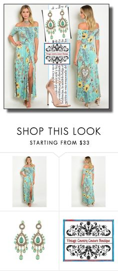 """""""vintage country couture 1"""" by dzemila-c ❤ liked on Polyvore featuring Stuart Weitzman, vintage and country"""
