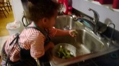 Washing Vegetables. In my experience, helping with washing vegetables at dinnertime has created an excitement about eating them at dinner. While there are some foods that children just will not like at times, I believe that they are more open to trying them when they help prepare them. And a positive mindset is the first step to more adventurous food choices.