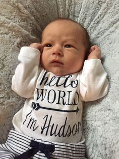 Check out HELLO WORLD, child boy, child girl, coming house outfit, child boy garments, boy onesie, personalised onesie bodysuit, child bathe present