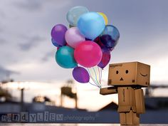 Danbo again playing with ballons..