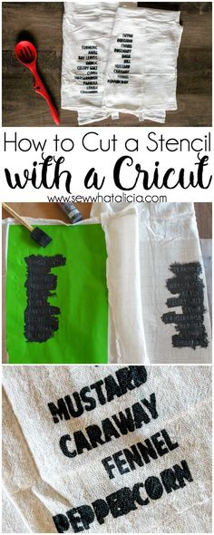 How to Make a Stencil with a Cricut: This is a great tutorial for creating stencils to add paint to your fabric or wood projects. Click through for a video tutorial for creating a stencil in Cricut Design Space. #fabricpaint  | www.sewwhatalicia.com