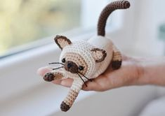 Siamese Cat Amigurumi Crochet Pattern Easy Crochet Cat image 0