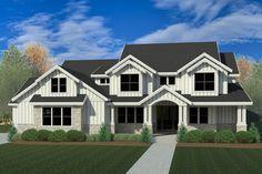 Craftsman Style House Plan - 4 Beds 2.5 Baths 3249 Sq/Ft Plan #920-102 Exterior - Front Elevation - Houseplans.com