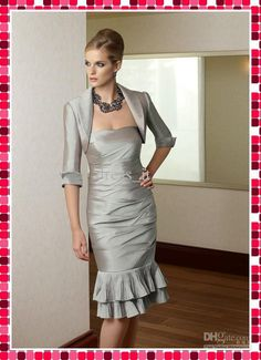 e9d6ca36e8bb Wholesale Hot Sale Sexy Mother Dress Knee Length Sheath Strapless Taffeta  Mother of Bridal Dress with