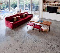 pavimento in cemento levigato