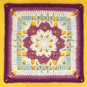 Ravelry: Floral Kaleidoscope Afghan Square pattern by Julie King.. Free pattern!