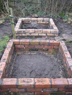 old vintage brick garden beds