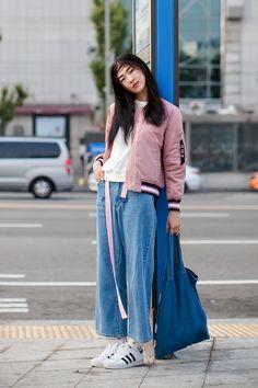 Jacket | 8Seconds Belt | ADERerror Bag | Afond Shoes | Adidas On the street… Seo Yumi Seoul fashion week 2016 S/S
