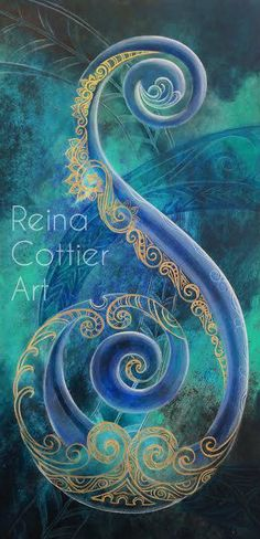 Regal Koru By Reina Cottier Art Print by Reina Cottier. All prints are professionally printed, packaged, and shipped within 3 - 4 business days. Choose from multiple sizes and hundreds of frame and mat options. Koru Tattoo, Thai Tattoo, Maori Symbols, Maori Patterns, Zealand Tattoo, Polynesian Art, Maori Designs, New Zealand Art, Nz Art