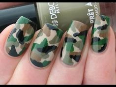 Camouflage Nail Art Tutorial #Camonialart - Go to bellashoot.com or #beautyapp for beauty inspiration!