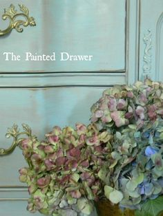 Painted Drawer in Annie Sloan Chalk Paint in Provence mix by The Painted Drawer