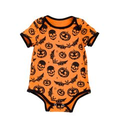 [Halloween Special] Pumpkin and bat //Price: $12.60 & FREE Shipping //     #babyootd