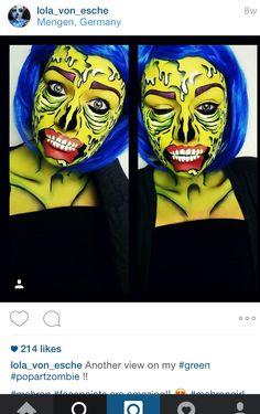 Pop art zombie