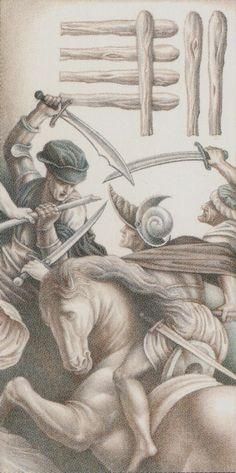 Seven of Wands - Leonardo Da Vinci Tatot by A. Atanassov, Iassen Ghiuselev