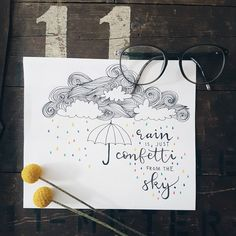 》Rain is just confetti from the sky.《 . . . __________ #bujo #bulletjournalnewbie #bulletjournalnewbie #bulletjournal #bulletjournaling #handlettered #handlettering #quote #bujolove #bujogermany #bulletjournalgermany #clouds #inspiration #tombow #plants #minimalism #minimalist #lineart #illustration #flatlay #doodle #bulletjournalgirl #bujoinspire #minimalbujo #notestagram #planner #confetti #flower #rain #love